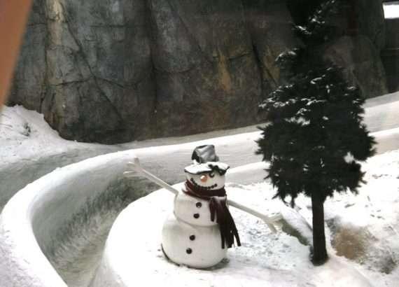Lumiukko Dubaissa (lumi on ihan oikeaa!)