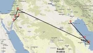 Turistina Qatarissa, Bahrainissa ja Kuwaitissa
