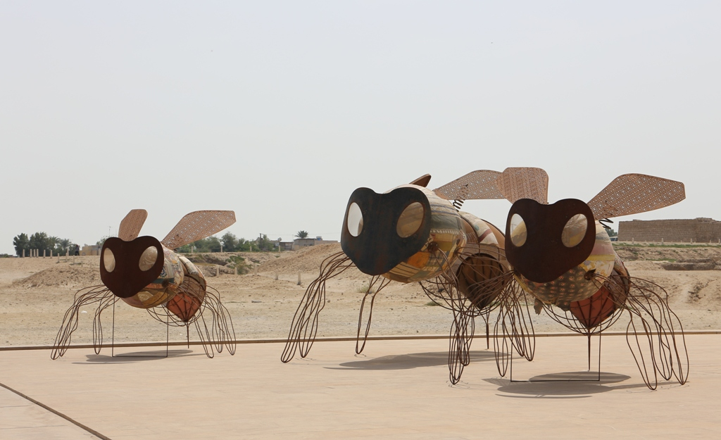 Yllättävä hyönteiskokoelma linnoituksen museon edustalla!