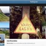 Meriharakka Instagramissa ja Twitterissä