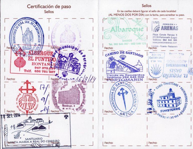Camino certificate
