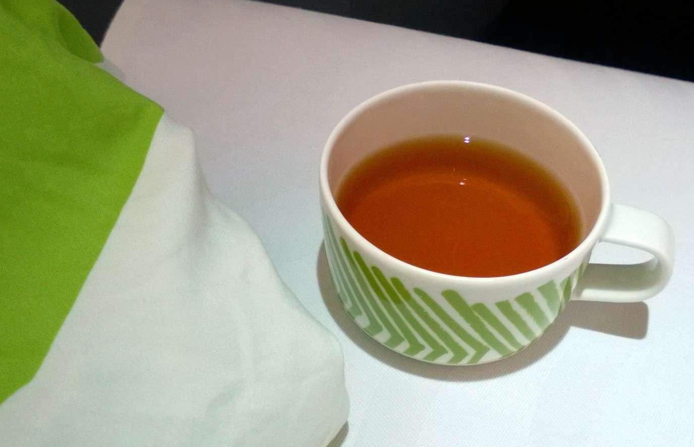 Finnair business kuppi teetä