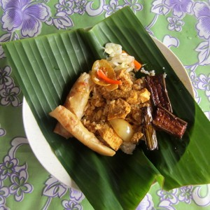 Kinabatangan river lunch in village