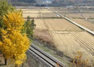 Pohjois-Korean raja, rautatie