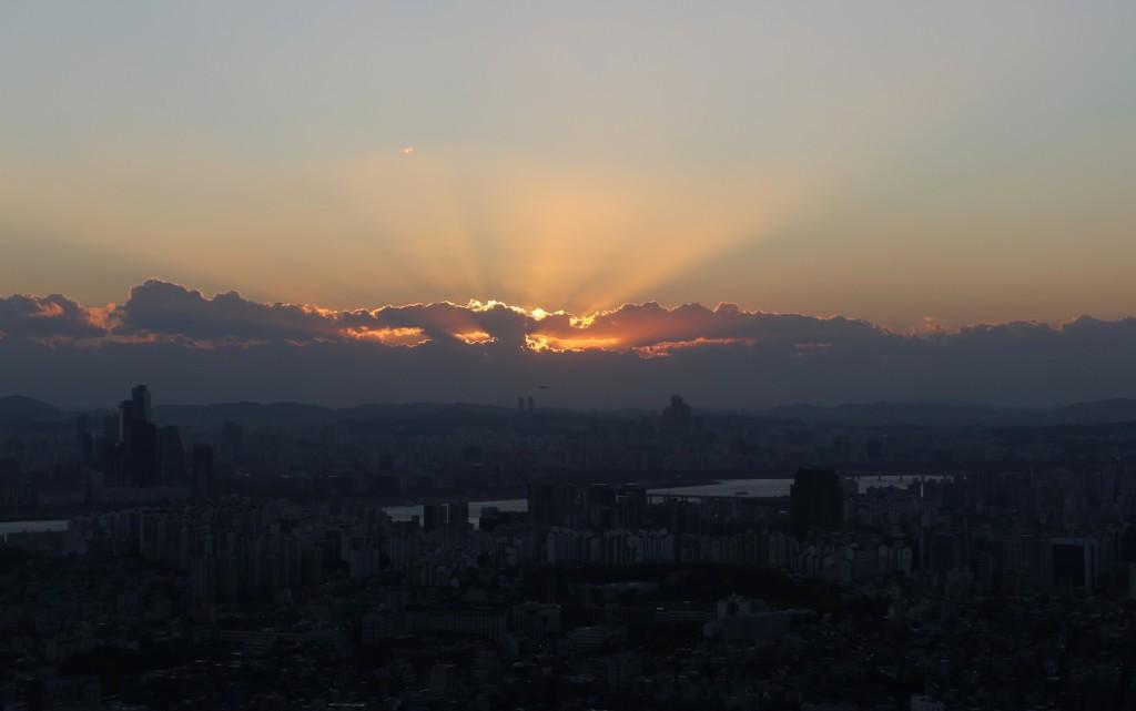 Soul torni auringonlasku