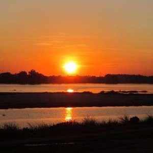 Sunset Mekong Vientiane Laos