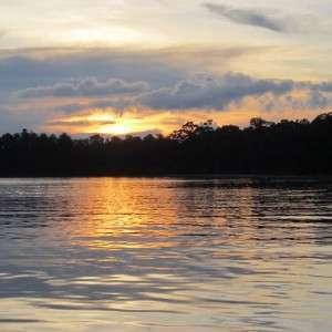 Sunset Kinabatang river Sabah Malaysia