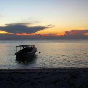 Sunset Seligan Island Malaysia Sabah