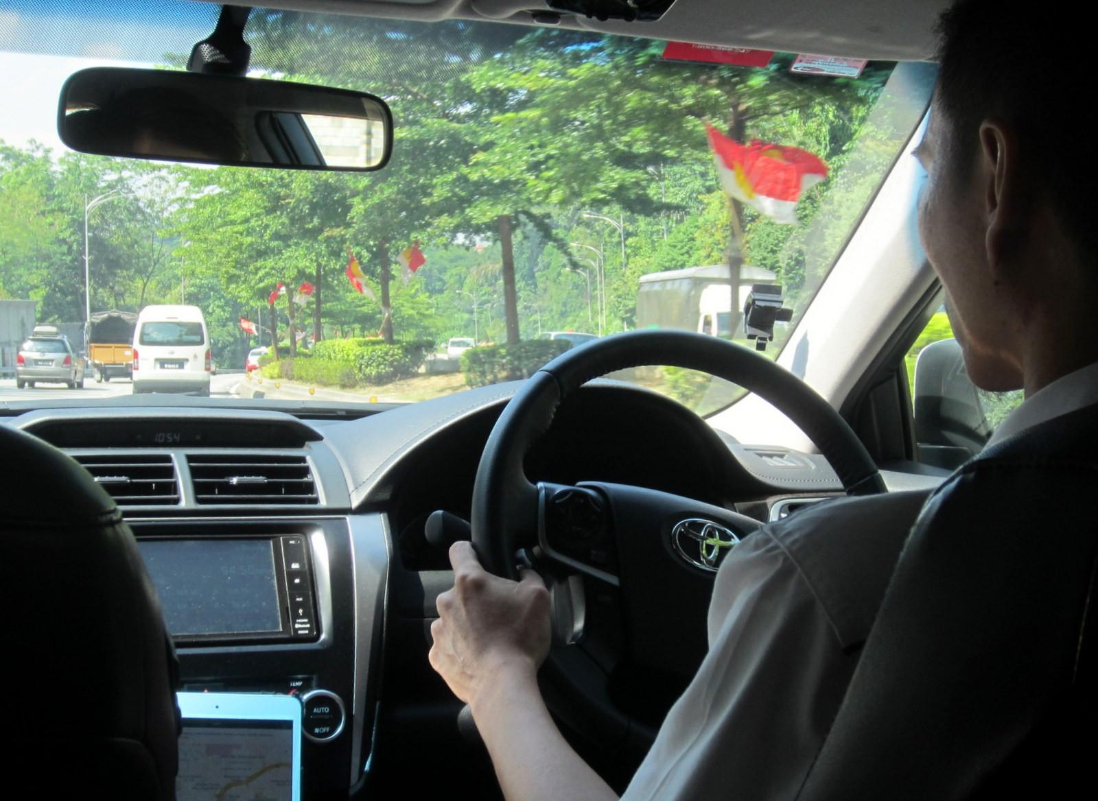 Uber taksi Malesiassa Kuala Lumpurissa