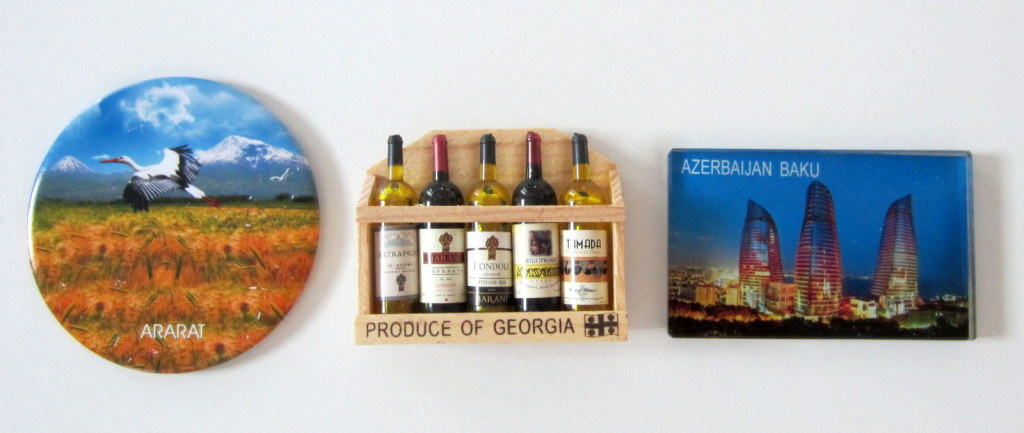 Fridge magnets Jordan Georgia Azerbaidzan