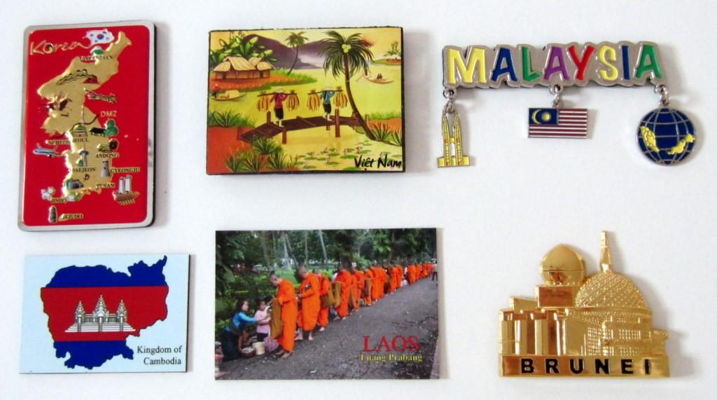 fridge magnet korea laos cambodia vietnam malaysia brunei