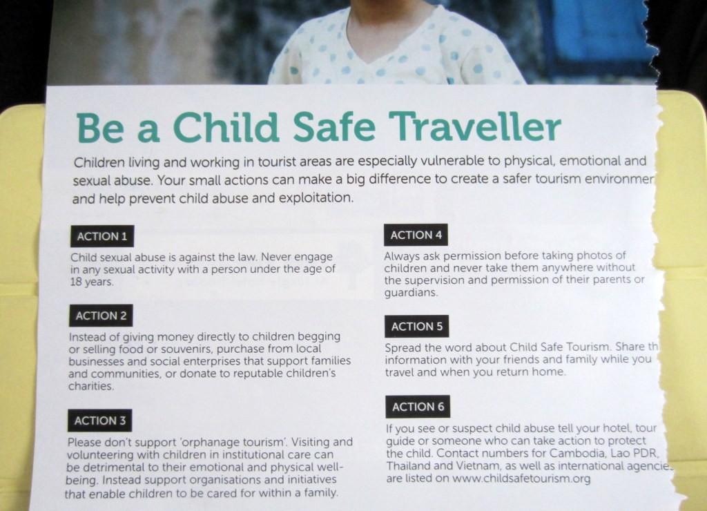 Be a Child Safe Traveller