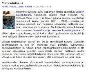 Meriharakka.net archive story 2010