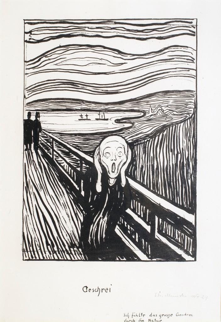 Huuto / Skriket Edvard Munch