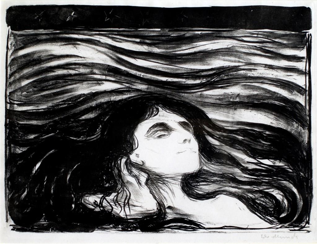 Rakkauden aalloilla / Kärlekens hav Edvard Munch