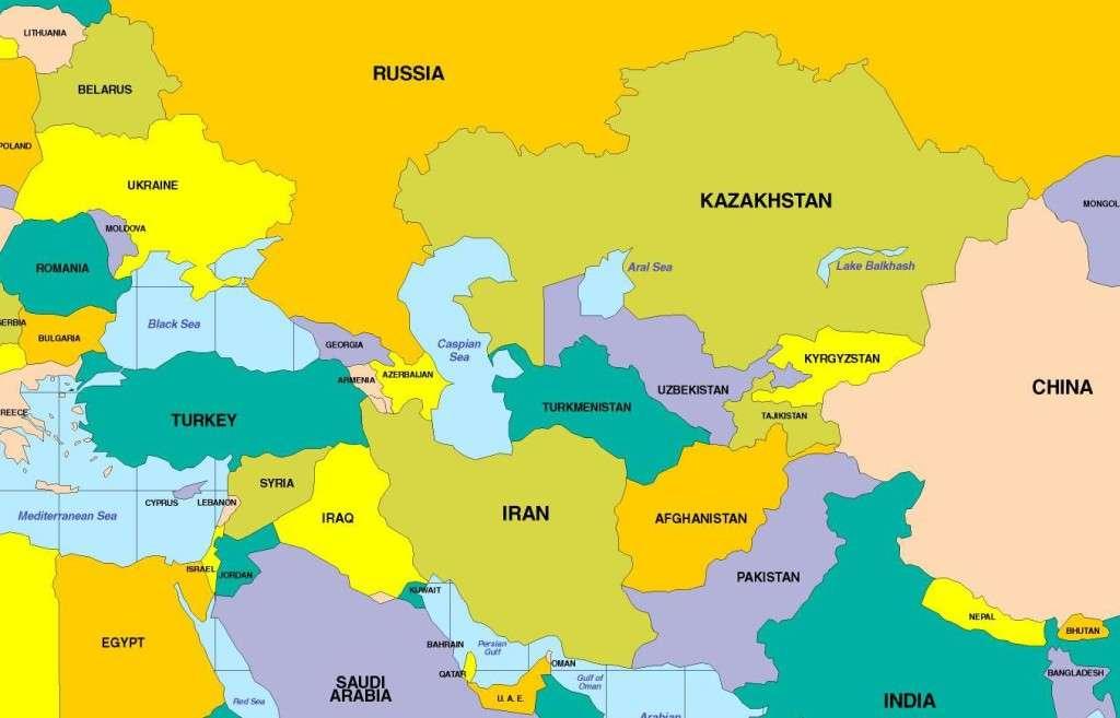 Aasia kartta