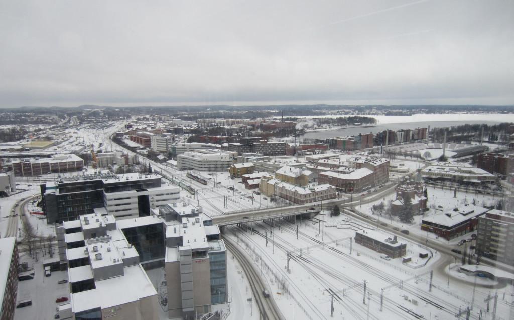 Tampere näkymä Moro Sky Bar