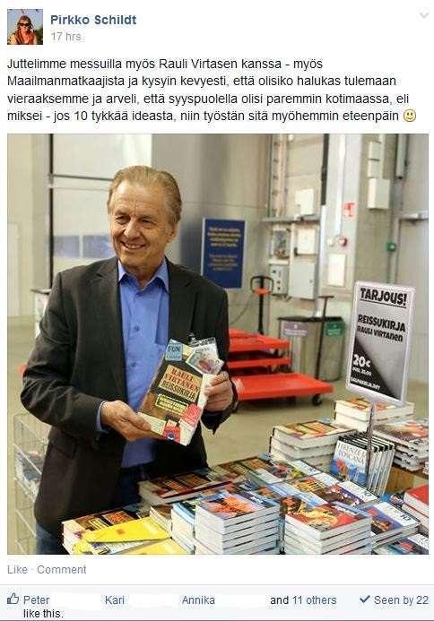 Rauli Virtanen Reissukirja matkamessut Maailmanmatkaajat