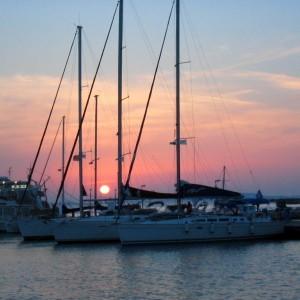 Auringonlasku Naxos Kreikka