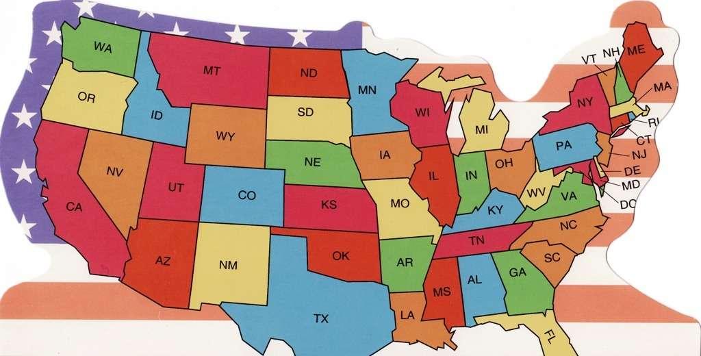 USA Osavaltiot otsikko