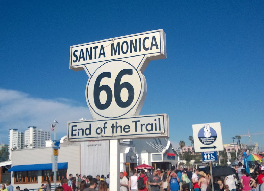 Santa Monica end of Route 66