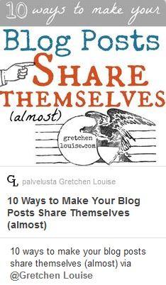 Pinterest taulu bloggaamisesta