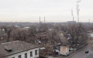 Almaty Astra-hotelli näkymä ikkunasta