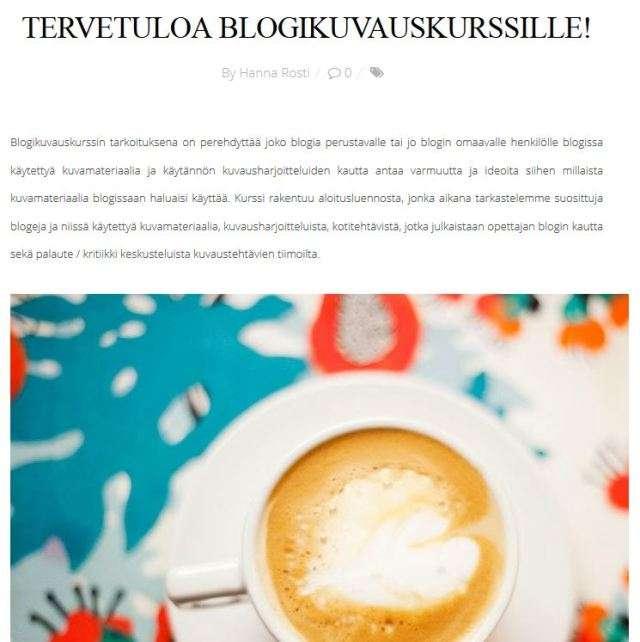 blogikuvauskurssi