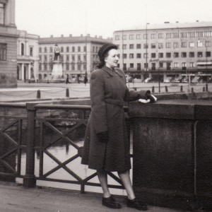 1947 Tyska bron taustalla Gustav Adolfin tori (Hjördis)