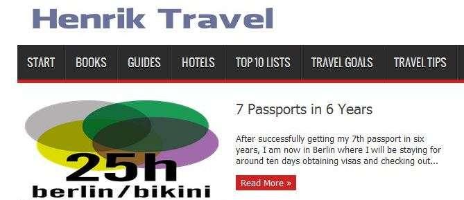 Henrik Travel blog