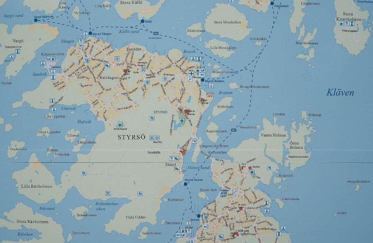 Göteborgin saaristokartta
