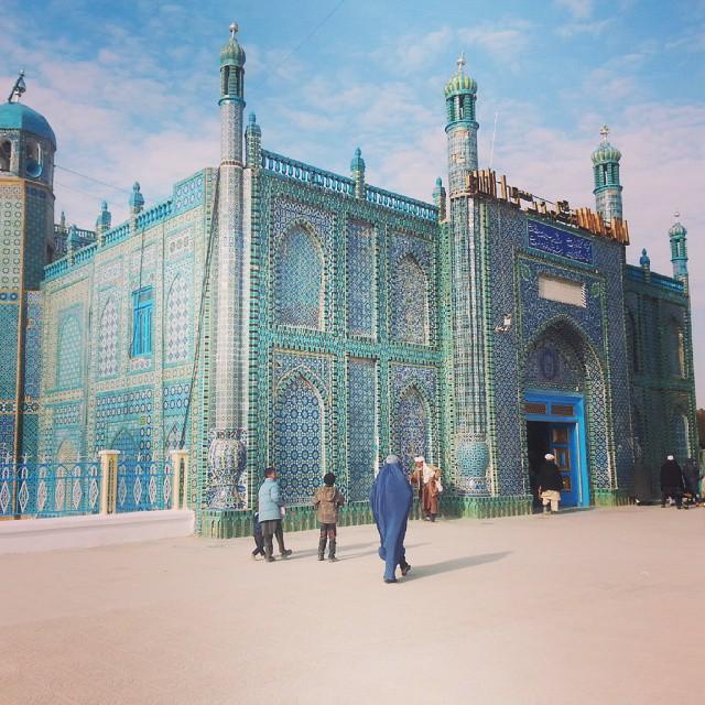 Sininen moskeija, Mazar, Afganistan
