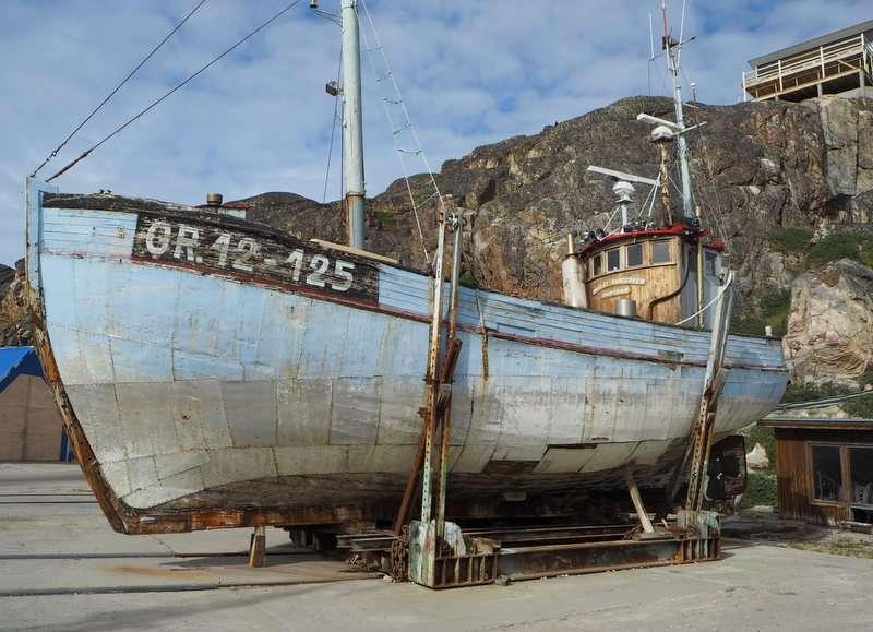 Ilulissat vanhoja kalastajaveneitä