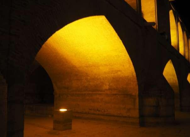 Isfahan joki illalla