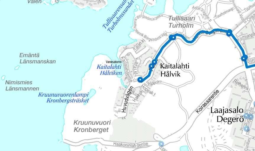 Kruunuvuori kartalla