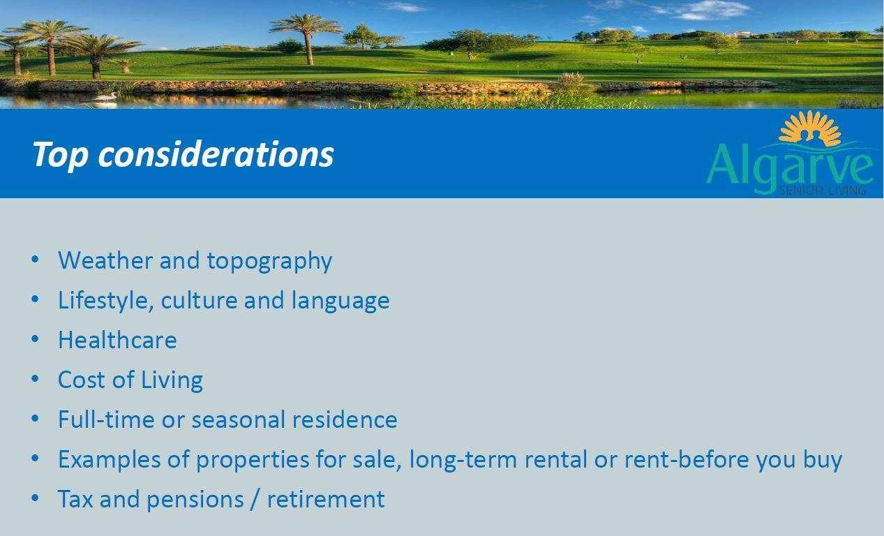 Algarve Top considerations