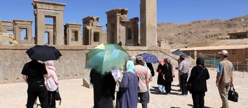 Ryhmäämme Persepoliksessa