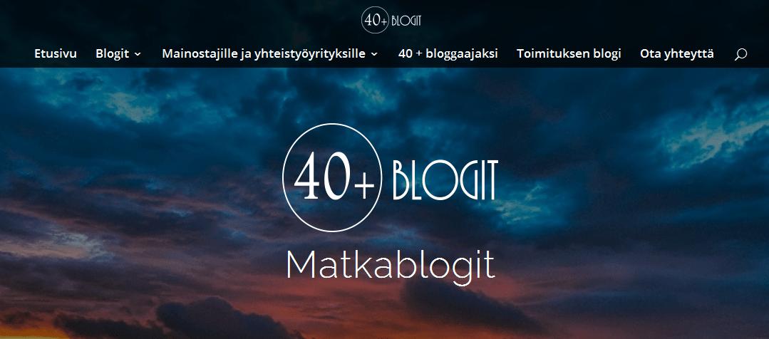 40+ matkablogit