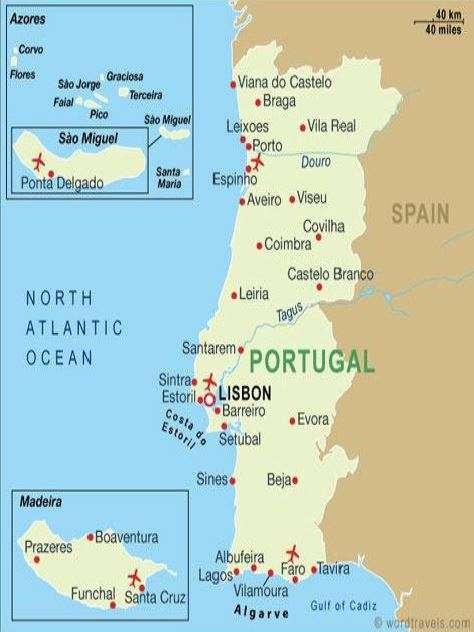 Portugalin kartta
