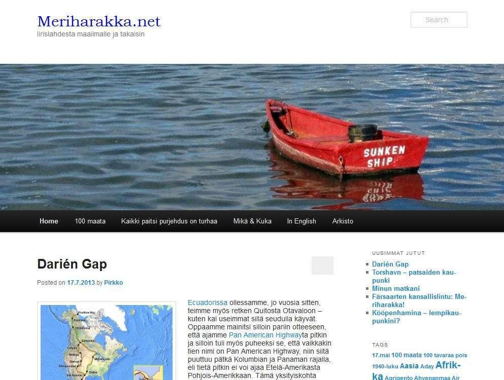 Meriharakka.net 2013 otsikko