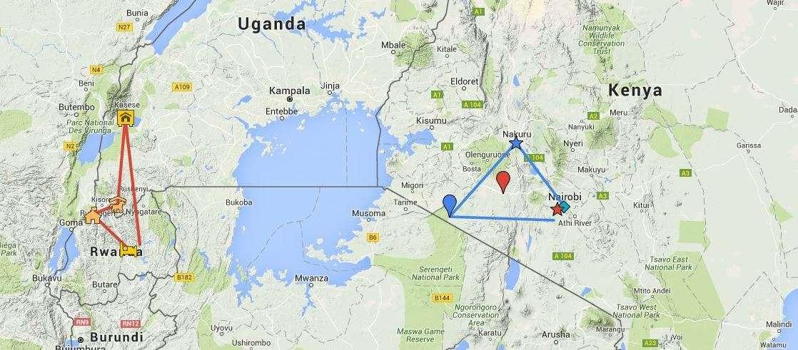 Ruanda, Uganda, Kenia
