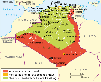 Algeria UK matkustustiedote 2015 11