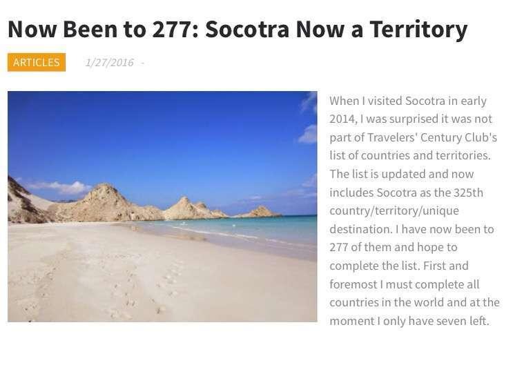 Socotra, uusin TCC-alue