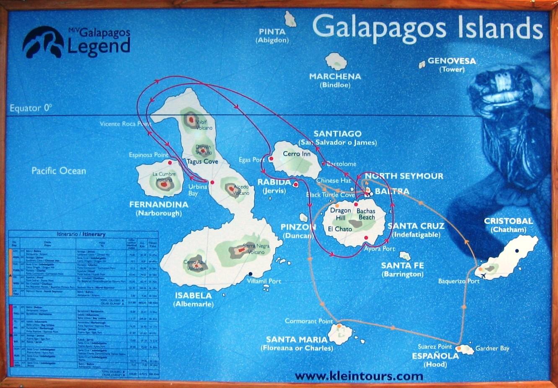 Galapagos Reitti
