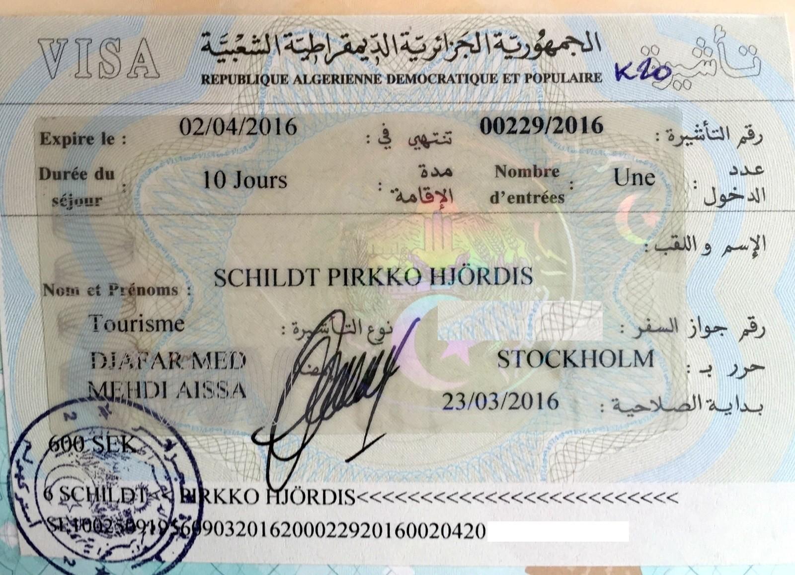 Algerian viisumi