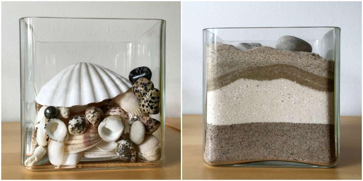 Simpukoita ja hiekkaa