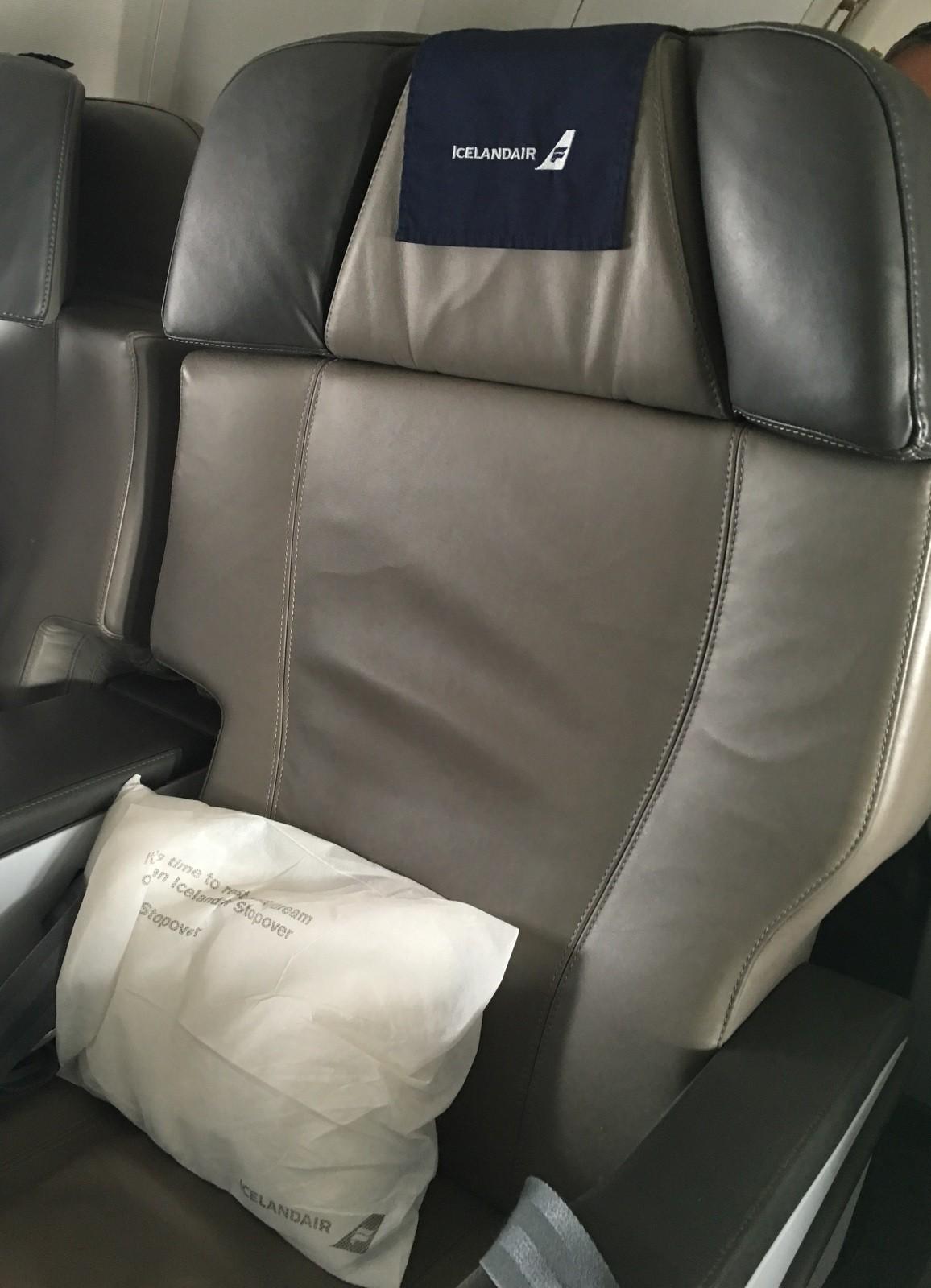 Icelandair Saga Class istuin