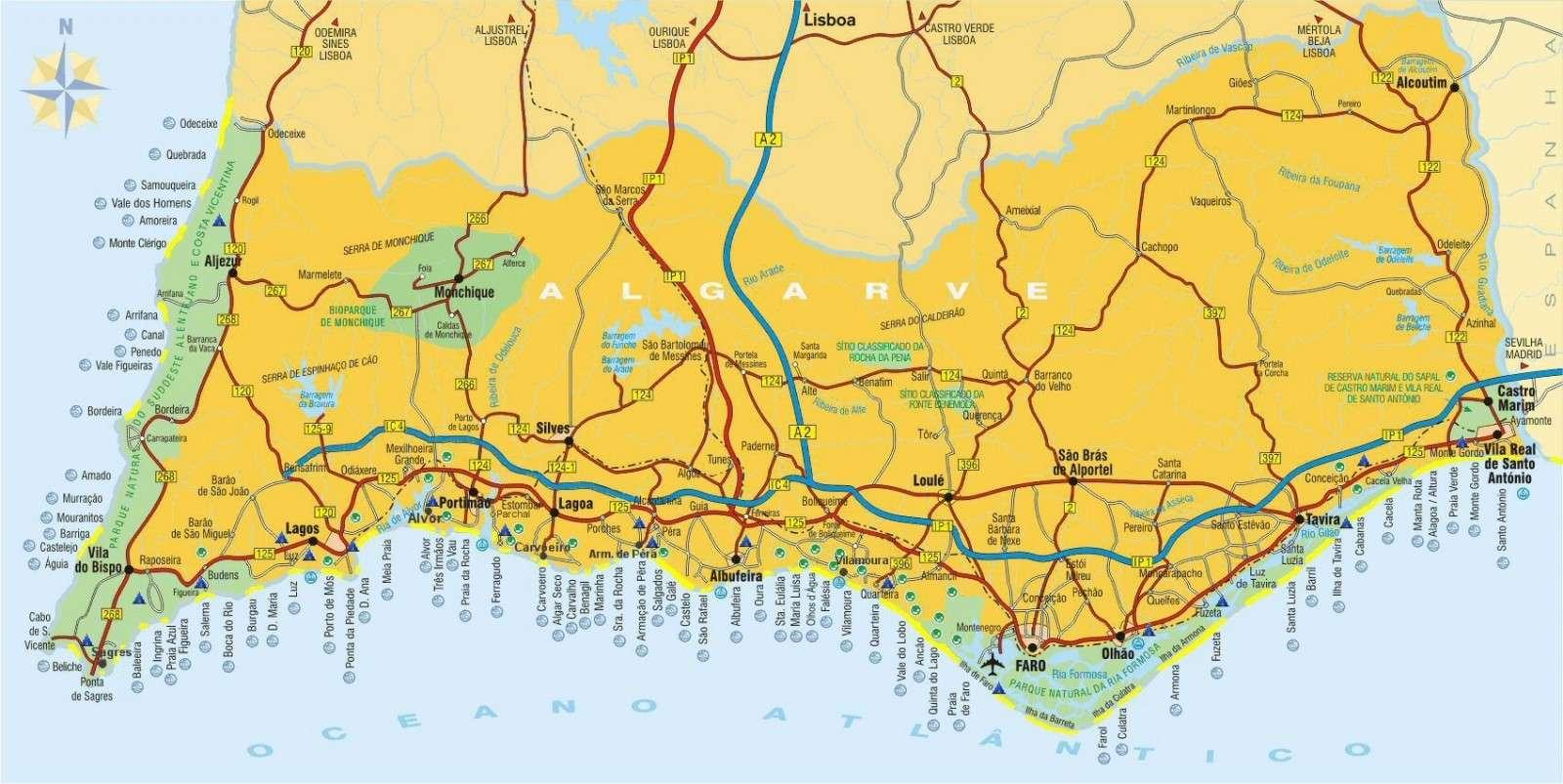 Algarven kartta