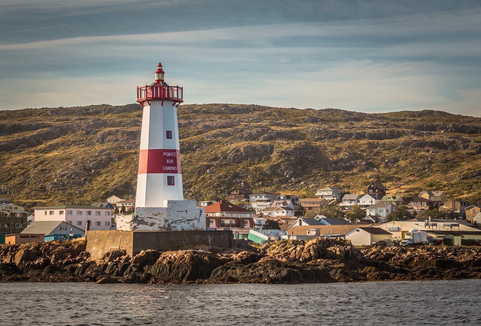 Pointe aux Canons lighthouse Saint-Pierre et Miquelon