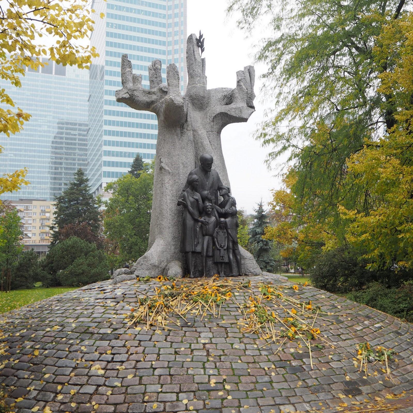 Janusz Korczak monument Warsaw